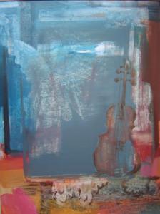Hegedű és angyal olaj, 80x60