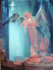 Rózsaszín angyal  70x50  olaj