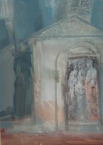 Sírszobrok 70x50 olaj 2008