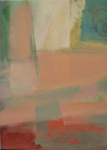 Színes faltöredék 70x50 olaj 2007