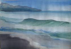 Tenger I 20x28 akvarell, papír
