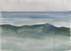 Tenger II 20x28 akvarell, papír