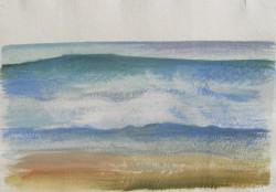Tenger III 20x28 akvarell, papír