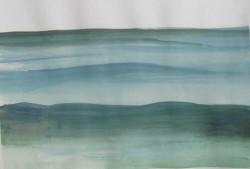 Tenger IV 20x28 akvarell, papír