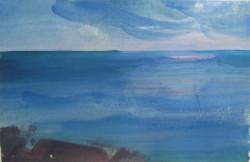 Tenger VI 20x28 akvarell, papír