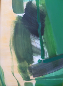 Zöld kép I. 80x60 akril, olaj