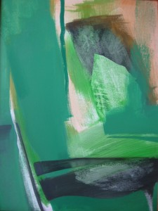 Zöld kép II. 80x60 akril, olaj