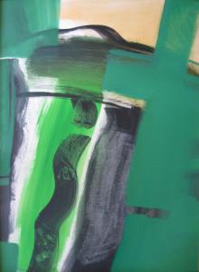 Zöld kép III. 80x60 akril, olaj