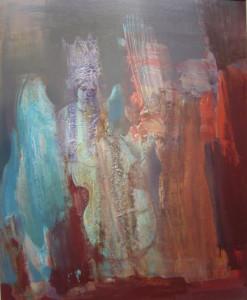 Zenélő angyalok olaj, 80x60