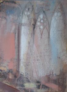 gotika 30x20 pasztell 2008