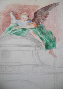 Barokk kapu angyallal 2