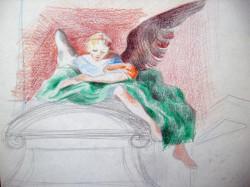 Barokk kapu angyallal
