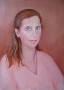 Fiatal nő portréja, olaj