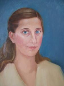Női portré, olaj