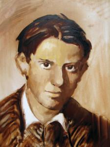 Picasso portré, olaj