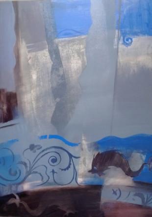 Falminták Pompejiből 70x50 olaj,akril
