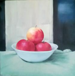 Három alma 30x30 olaj vászon